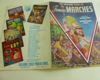 Vintage Book The Treasure Chest of Famous Marches Music