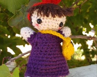 Crochet Kiki and Jiji from Kiki's Delivery Service, Amigurumi, Studio Ghibli