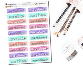 Watercolor New Releases - Functional | Planner Stickers