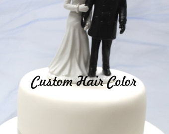 Custom Wedding Cake Topper - Winter Bride and Groom - Winter Wedding - Romantic Wedding Cake Topper - Winter Theme Wedding - Winter - Snow