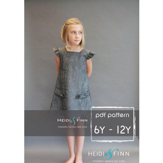 Dorset dress PDF sewing pattern and tutorial 6y-12y tunic