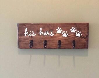 Dog Leash Hook, Dog Leash Holder, Key Hanger, Key Holder, Key Hooks, Rustic Key Hook, Leash Hook, Leash Holder, Key Wall Hanger, Key Rack