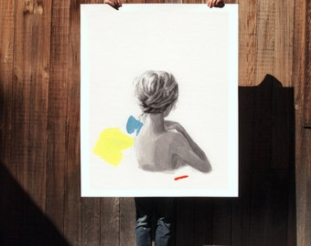 In Place .  extra large wall art . giclee print