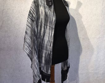 Black and White Silk Tallit