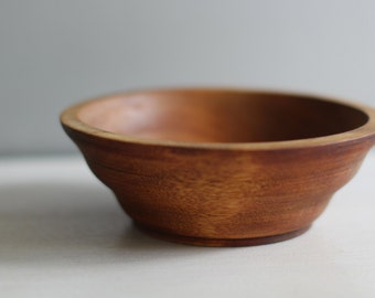 Vintage small wooden hand made bowl