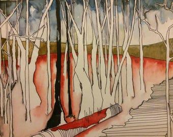 Deep Dark Woods - Postcards