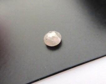 1 Piece Natural White Rose Cut Diamond Loose, 5mm Rough Diamond Rose Cut, SKU-Dds119/2