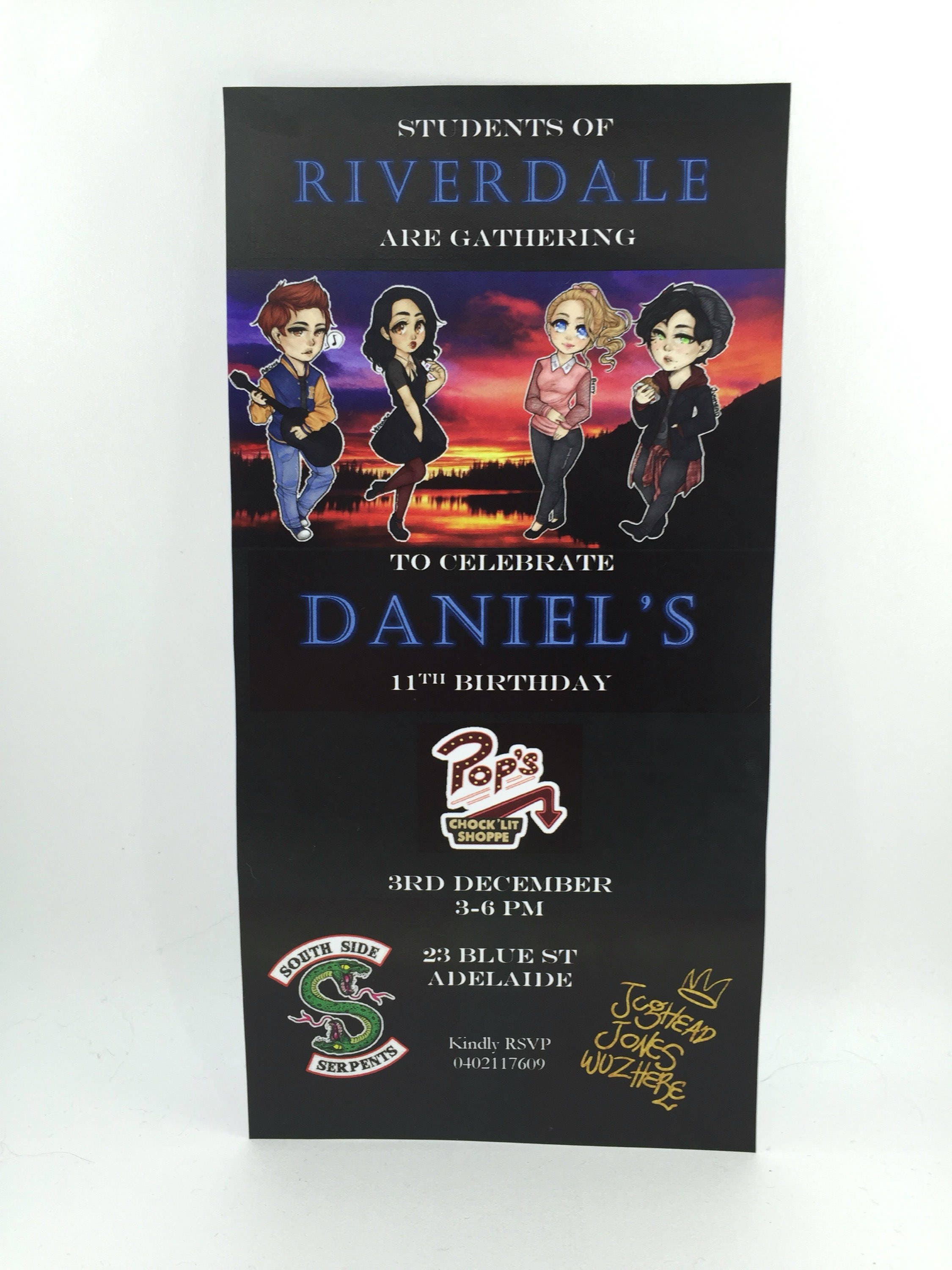 Riverdale Birthday Invitation