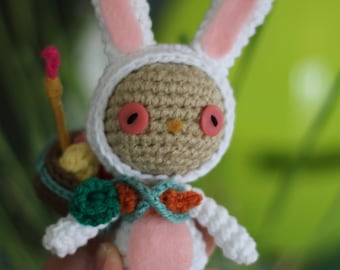 PATTERN: Cottontail Teemo from League of Legends Crochet Amigurumi Doll