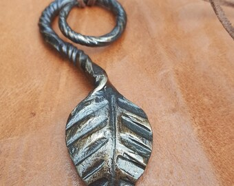 Hand forged leaf