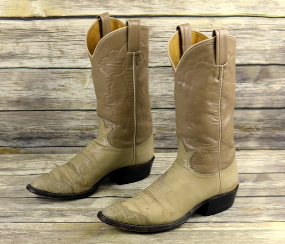 Narrow Size Lama A Light Boots Mens Western Vintage Tan Cowboy Leather Tony 8 wgqv0F1Fx