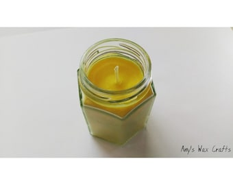 Yellow, Fresh, Citrus, Lemon, Lime, Scented, Candle