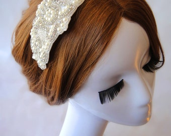 Wedding Hair Accessory, Rhinestone Headband, Bridal Headpiece, Metal headband, Bridal, Wedding, Bridesmaid, HELEN