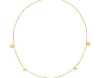 "Gold Pendant Necklace 18 k ""750/1000"" - LuckyOneBijoux.com yellow"