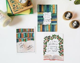 Book Lover Print Set // Wall Art // Bookish Decor
