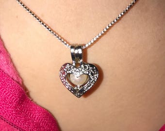Heart Pearl Cage Pendant