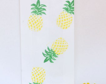 PINEAPPLE Paper Party favour bags, tropical party favour, tutti frutti party, tropical party, summer party favours