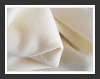 """Wool Fabric - Fat Eighth - Cream Solid - 100% Wool - 16"""" x 12"""""""