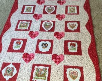 Handmade Valentine Quilt
