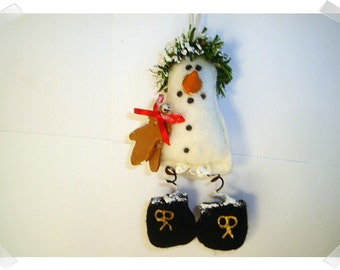 Handmade Snowman Ornament/Pin/ Holiday Decor/ Handmade/ Made to ORDER**