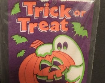 Halloween Trick Or Treat Candy Favor Bags Ghost & Pumpkin NOS