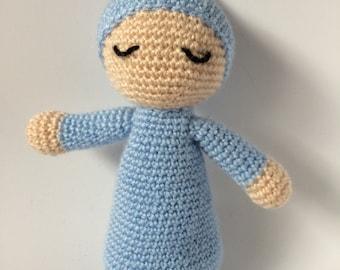 "Crochet Amigurumi Sleepy doll  Stuffed Toy Doll Children Gifts - Baby shower gits - Amigurumi dormilón 25cm (9,84"") tall various colours"