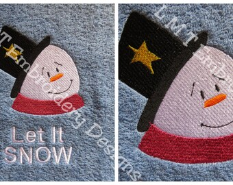 Snowman3 and Let It SNOW Embroidery Design - 2 Designs....
