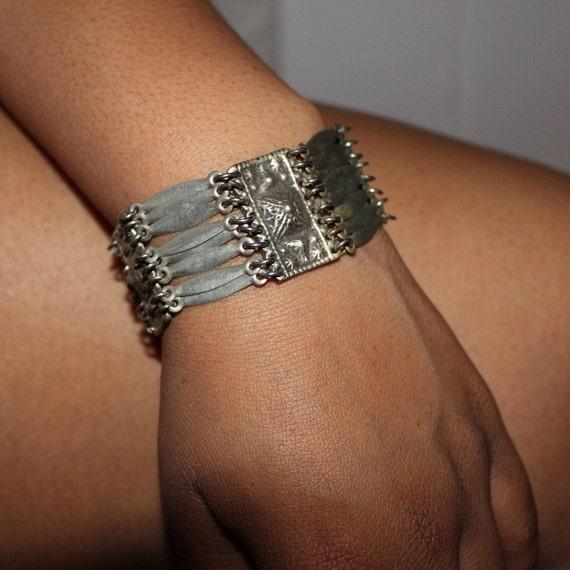 """Vintage Mexico Sterling Silver Bracelet Heavy 39.9 grams 7.5"""" Length Signed Stamped old Bracelet Vintage Silver Hinged Bracelet Sterling"""