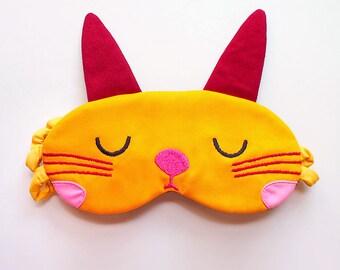 Bunny Rabbit Sleep Mask Cute Eyemask Sleepmask Eye Mask Eye Shield Eye Cover Blindfold Cosplay Mask HONEY YELLOW Sleeping Sleepy Bunny