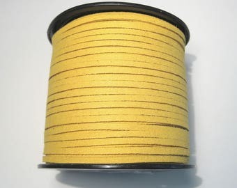 15ft Yellow Faux Suede Cord 3mm ( No.061)