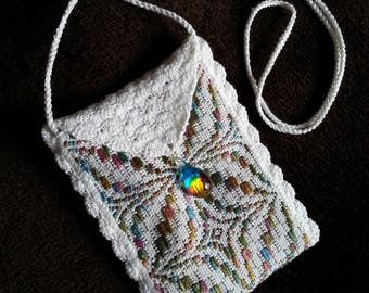 Handwoven and Crocheted Cell Phone Bag