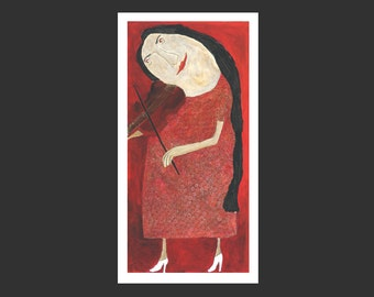 Giclee, Fine Art Print,   »Abschied«
