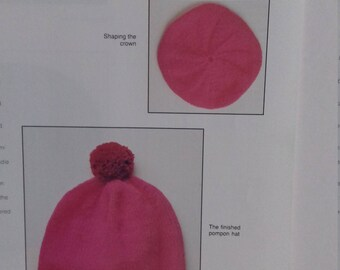 A winter Hat knitting pattern PDF FILE (C25)