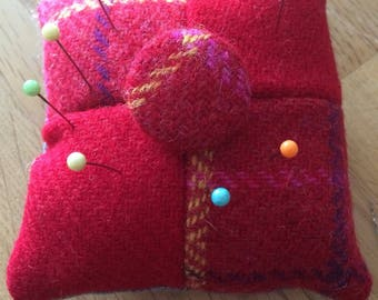 Harris Tweed pin cushion