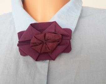 Fabric decor Woman fabric brooch original brooch