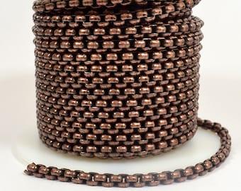Venetian Chain - Antique Copper - CH120 - Choose Your Length