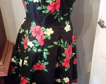 Haiwaiian Print dress
