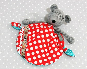 Wonder Mouse, handmade crochet baby blanky