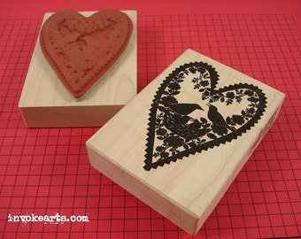Bird Nest Silhouette Stamp / Invoke Arts Collage Rubber Stamps
