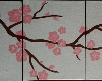 Cherry Blossoms - hand painted acrylic
