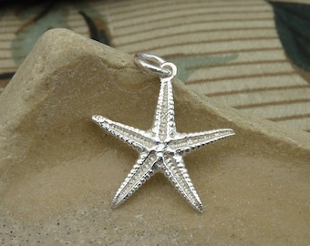 Starfish pendant (small) / necklace in sterling silver...