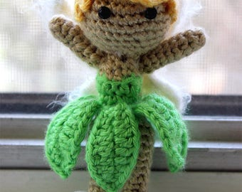 PATTERN Instant Download Tinkerbell from Peter Pan Doll Crochet Amigurumi Disney Princess