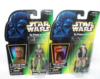Vintage Star Wars Power of the Force Grand Moff Tarkin Rebel Fleet Trooper MINT Action Figures 1996 MOC