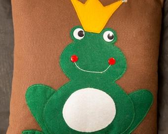 Frog Prince Pillow