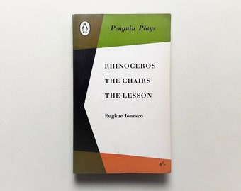 Eugene Ionesco - Penguin Plays - 1962 - Rhinoceros - The Chairs - The Lesson - Paperback - Second hand books