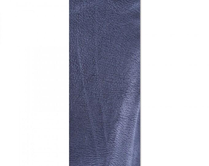 "New! Sizzix Leather Piece - 3.5"" x 9-1/8"" Metallic Sapphire (Cowhide)"