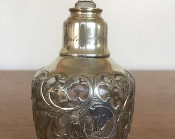 Perfume bottle silver 1896