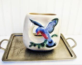 vintage bluebird vase royal copley blue bird of happiness