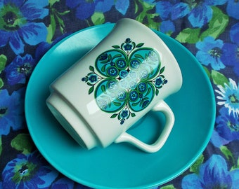 Retro Coffee cup and Saucer - 1960's - Impact from Studio Range - J & G Meakin - Used