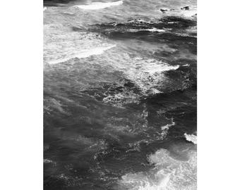 Wave Print, Black and White Ocean Art Print, Coast Print, Sea Art, Ocean Print, Beach Wall Art, Ocean Photography